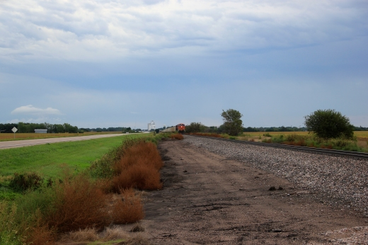 Train line in Nebraska