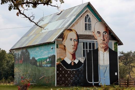 American Gothic Barn, Iowa