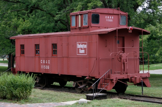 Burlington Route Caboose, Joe Bowers memorial Historical park, Wahoo, NE