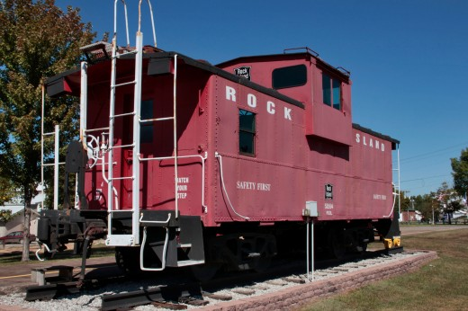 Rock Island Caboose, Eldon, Iowa