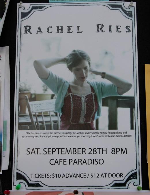 Rachel Ries show poster