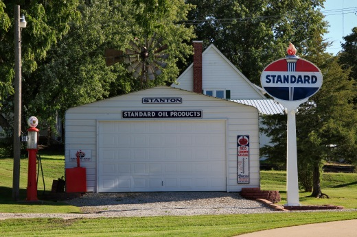 Former gas station, Stanton, Iowa