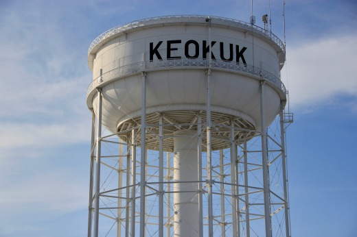 Keokuk, Iowa watertower