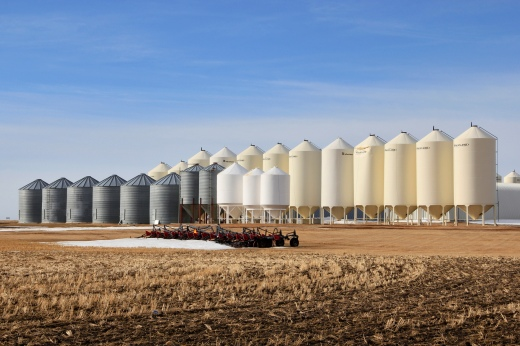 Grain silos in Alberta, Canada